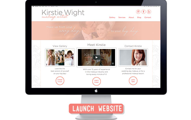 Kirstie Wight Makeup artist website design