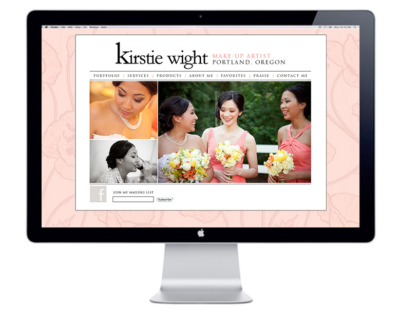 kirstie wight portland makeup artist website design