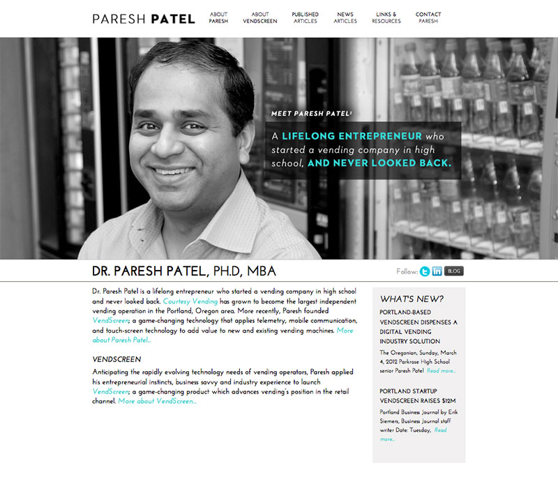 paresh patel website design