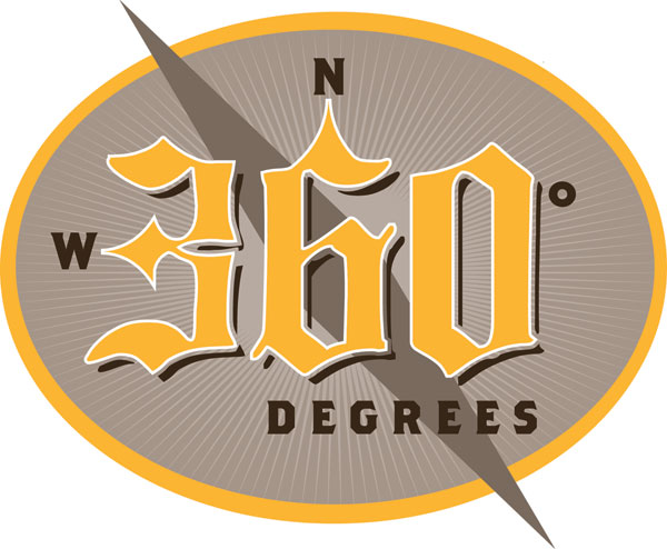 360 Degrees beer logo design