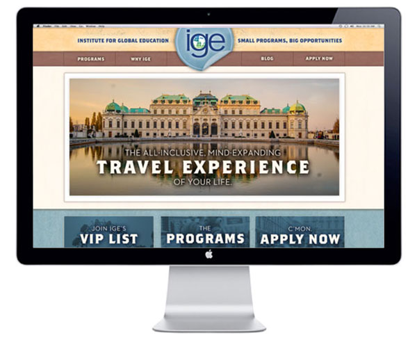 IGE Home page design