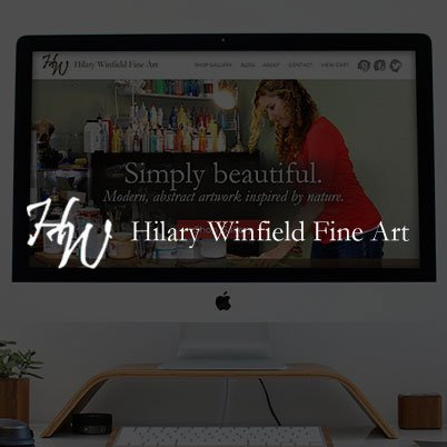 Hilary Winfield Artist website design