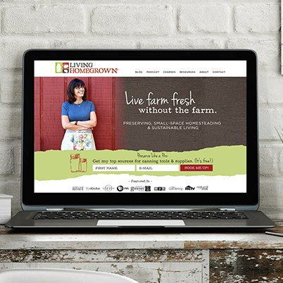 living homegrown website design