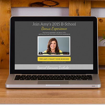 amy porterfield website design