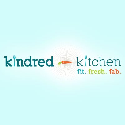 kindred kitchen food blogger logo design