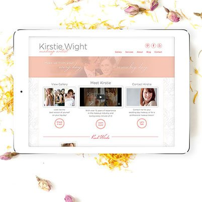 kirstie wight website design