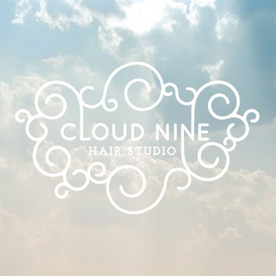 cloud nine hair salon logo design