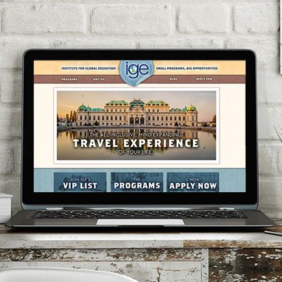 ige study abroad website design