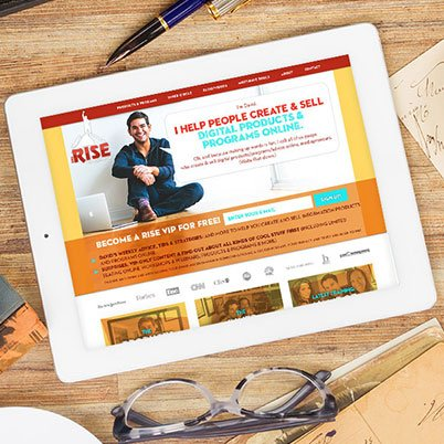 the rise to the top website design