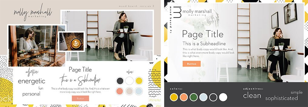 Molly Marshall Website Mood Board